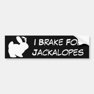 Freno para Jackalopes - blanco sólido Pegatina Para Auto