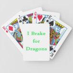 Freno para la menta de los dragones barajas de cartas