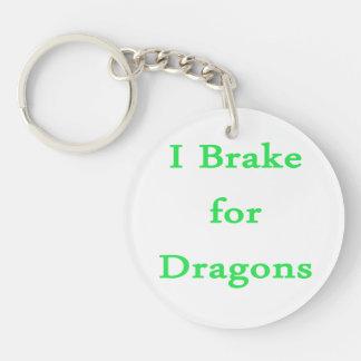 Freno para la menta de los dragones llavero redondo acrílico a doble cara