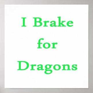 Freno para la menta de los dragones posters