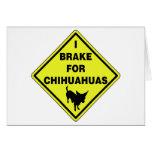Freno para las chihuahuas tarjeta