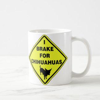 Freno para las chihuahuas taza de café