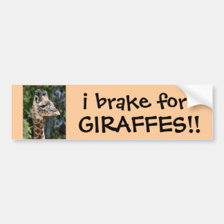 ¡freno para las JIRAFAS! pegatina para el parachoq Etiqueta De Parachoque