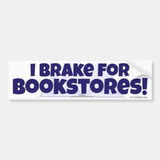 ¡Freno para las librerías! Etiqueta De Parachoque