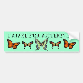Freno para las mariposas etiqueta de parachoque