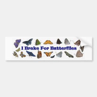 Freno para las mariposas pegatina de parachoque