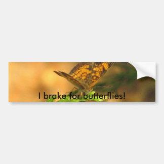 ¡Freno para las mariposas! Pegatina para el parach Pegatina Para Auto