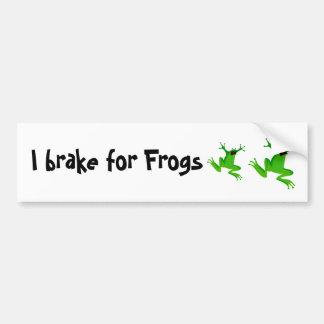 Freno para las ranas pegatina para auto