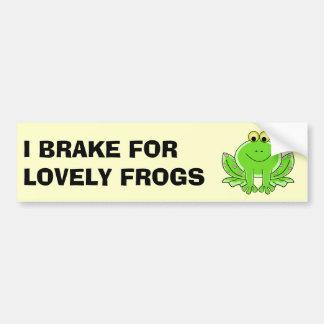 Freno para las ranas preciosas pegatina para auto