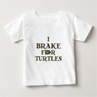 Freno para las tortugas 1 playera de bebé