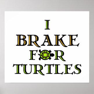 Freno para las tortugas 1 póster