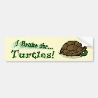 ¡Freno para las tortugas! Pegatina De Parachoque