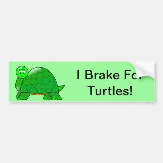 Freno para las tortugas etiqueta de parachoque
