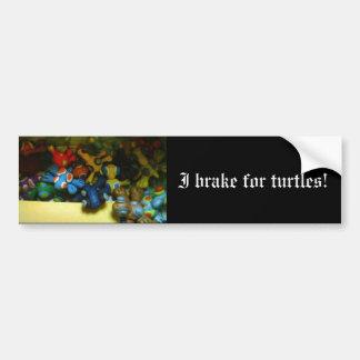 ¡Freno para las tortugas Pegatina De Parachoque