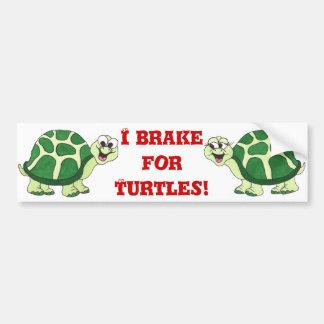 Freno para las tortugas - pegatina para el paracho pegatina de parachoque