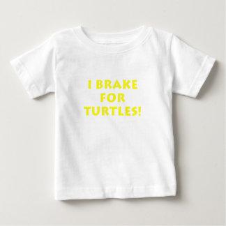 Freno para las tortugas playera de bebé