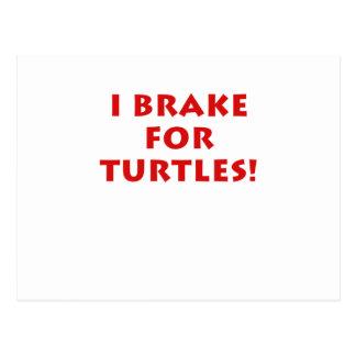 Freno para las tortugas postales
