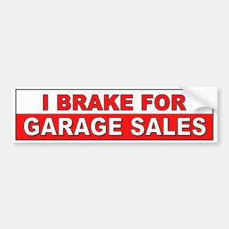 Freno para las ventas de garaje pegatina para auto