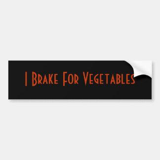Freno para las verduras pegatina para auto