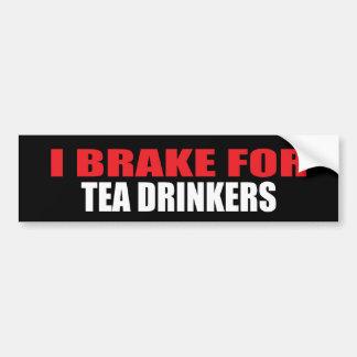 Freno para los bebedores del té pegatina para auto