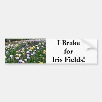 ¡Freno para los campos del iris Pegatina De Parachoque