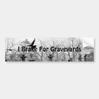 Freno para los cementerios etiqueta de parachoque