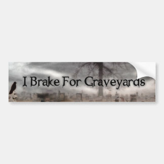Freno para los cementerios pegatina de parachoque