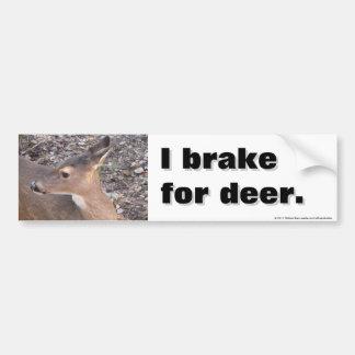 Freno para los ciervos pegatina para auto