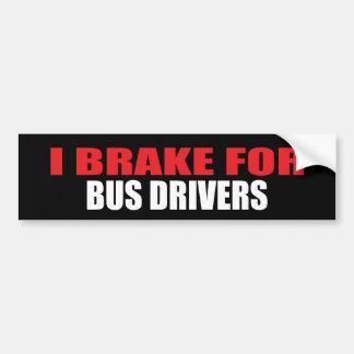 Freno para los conductores del autobús pegatina para auto