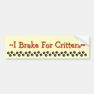 Freno para los Critters Pegatina Para Auto