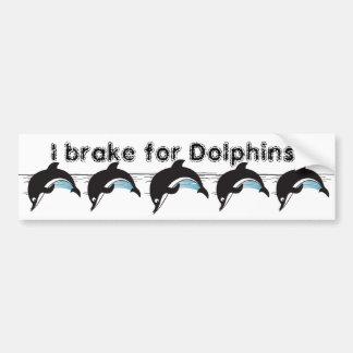 Freno para los delfínes pegatina para auto