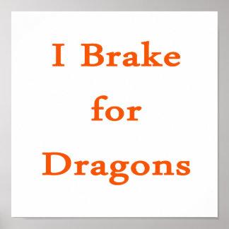 Freno para los dragones anaranjados impresiones