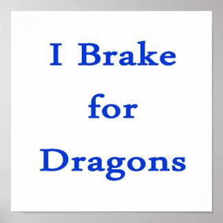 Freno para los dragones azules impresiones
