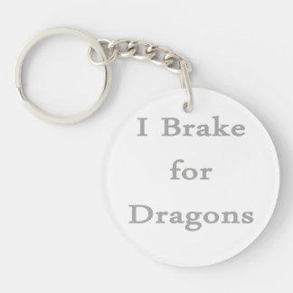 Freno para los dragones grises llavero redondo acrílico a doble cara