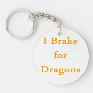 Freno para los dragones l naranja llavero redondo acrílico a doble cara