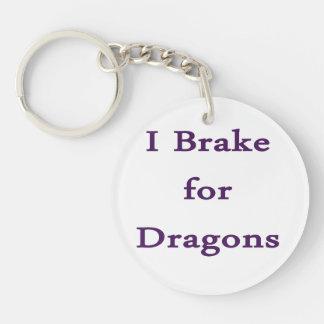 Freno para los dragones púrpuras llavero redondo acrílico a doble cara