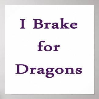 Freno para los dragones púrpuras impresiones