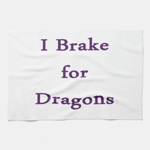 Freno para los dragones púrpuras toalla de cocina