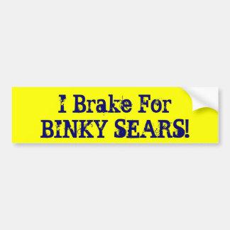 ¡Freno para los FIADORES de BINKY! Pegatina Para Auto