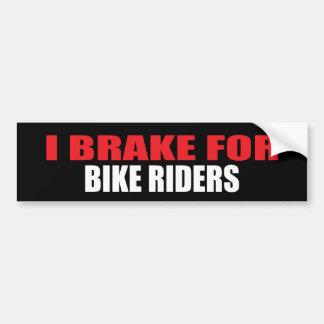 Freno para los jinetes de la bici pegatina para auto