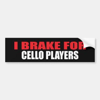 Freno para los jugadores del violoncelo pegatina para auto