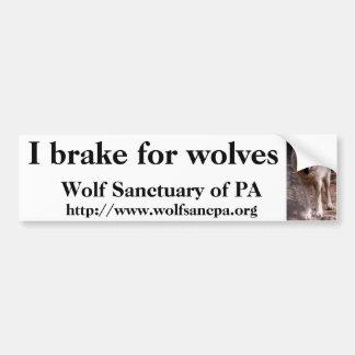 Freno para los lobos pegatina para auto