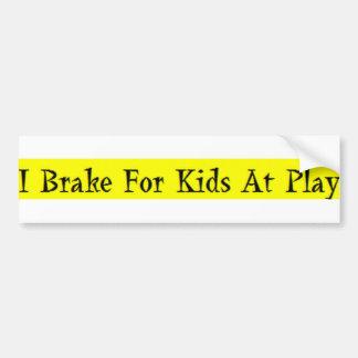 Freno para los niños en el juego pegatina para auto