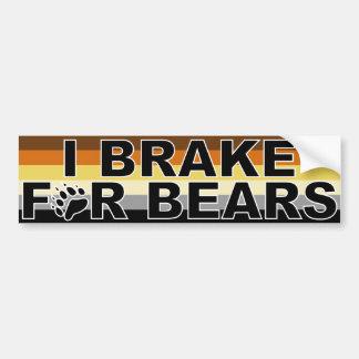 Freno para los osos pegatina para auto