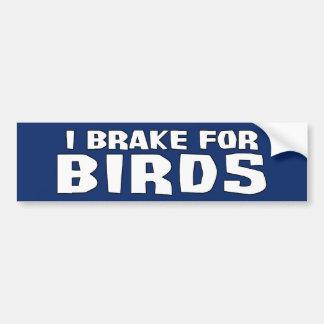 Freno para los pájaros etiqueta de parachoque