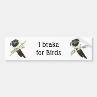 Freno para los pájaros, urraca de la acuarela para pegatina para auto