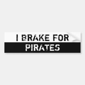 Freno para los piratas pegatina para auto