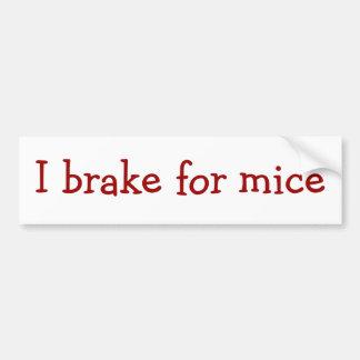 Freno para los ratones pegatina para auto