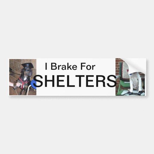 Freno para los refugios etiqueta de parachoque