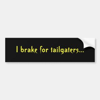 Freno para los tailgaters… pegatina para auto